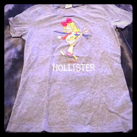 2443ea53ff Hollister Grey Surfer Girl Tee